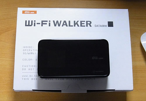 au Wi-Fi WALKER DATA08W